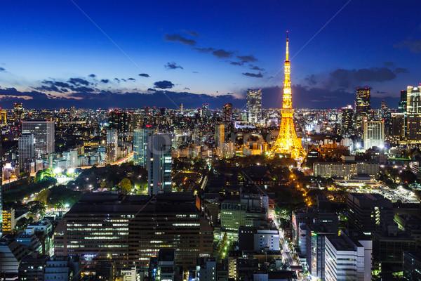 Tóquio noite negócio cidade arquitetura asiático Foto stock © leungchopan