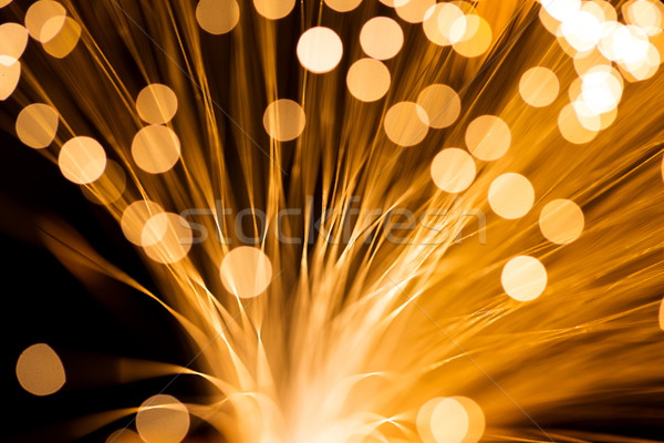 Altın lif optik teknoloji arka plan uzay Stok fotoğraf © leungchopan