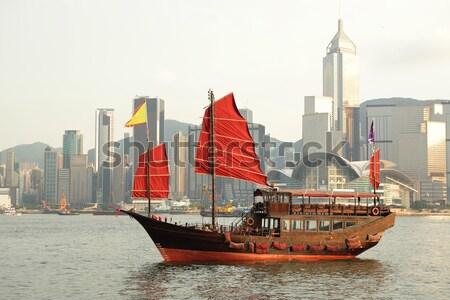 Foto stock: Hong · Kong · puerto · turísticos · oficina · edificio