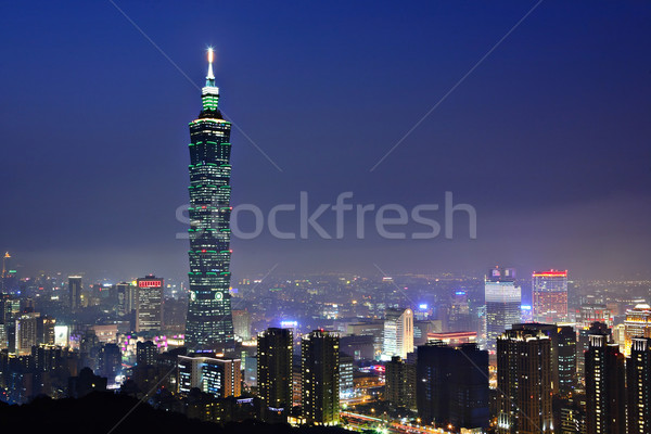taipei city night scene Stock photo © leungchopan