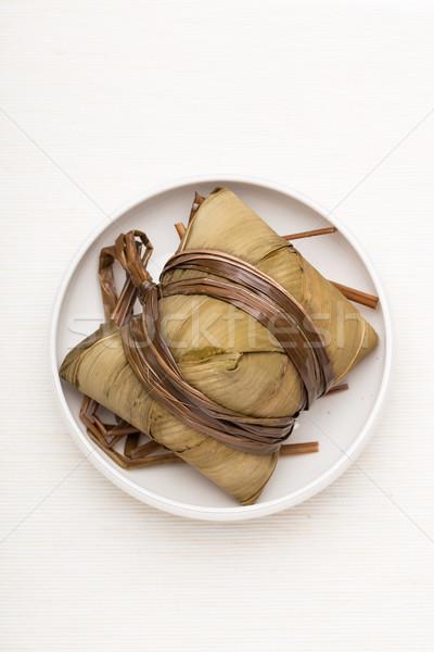 Chinese cuisine rice dumpling Stock photo © leungchopan