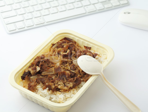 Unhealthy lunch box at office Stock photo © leungchopan