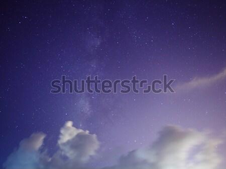 Galaxie Sternen Skyline Stock foto © leungchopan