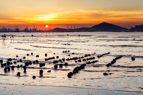 Sunset with sea Stock photo © leungchopan