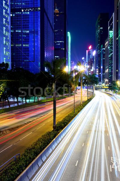 Traffic light on road Stock photo © leungchopan