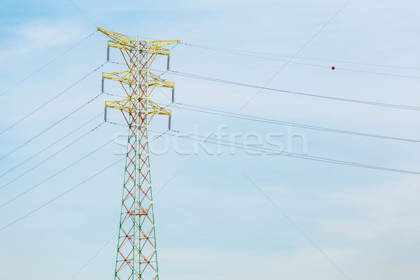 Power transmission tower Stock photo © leungchopan