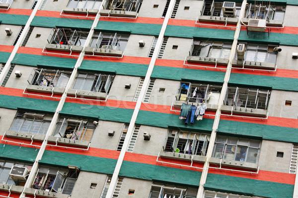 Zdjęcia stock: Hongkong · publicznych · obudowa · domu · tle · noc