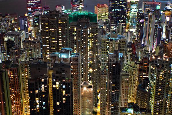 building at night Stock photo © leungchopan