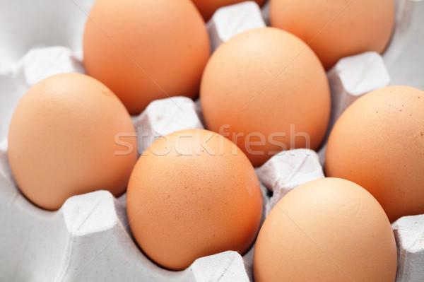 eggs in box Stock photo © leungchopan