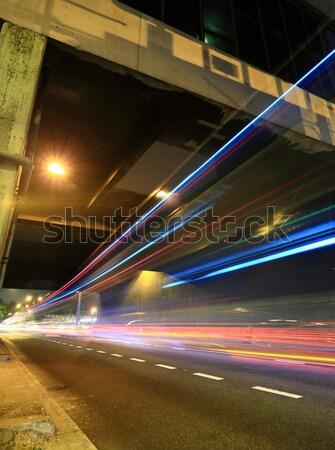 свет как город шоссе бизнеса дороги Сток-фото © leungchopan