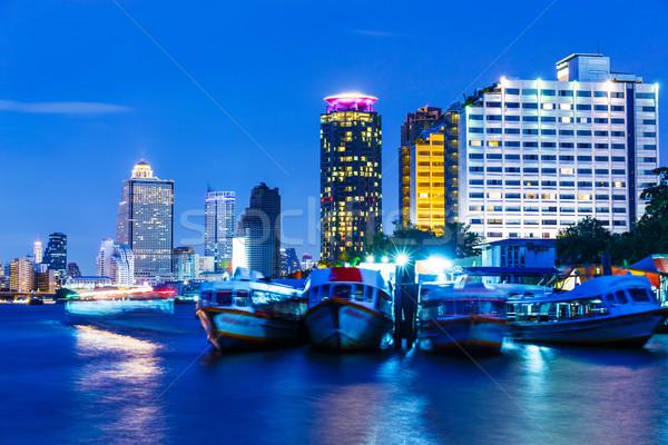 バンコク スカイライン 1泊 空 ボート ホテル ストックフォト © leungchopan
