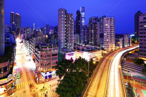 Kowloon side in Hong Kong at night Stock photo © leungchopan