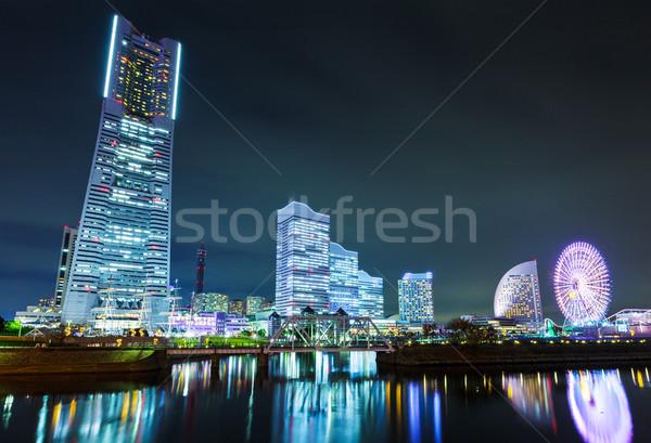 Иокогама Skyline ночь бизнеса здании город Сток-фото © leungchopan