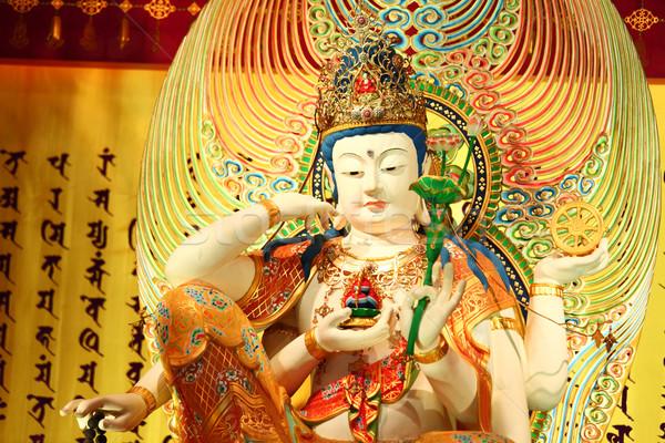 Çin heykel heykel el ibadet dua Stok fotoğraf © leungchopan