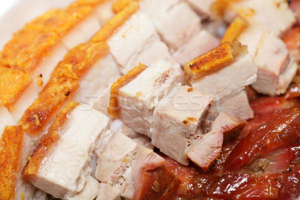 中国食品 肉 カモ 食べる バーベキュー 食事 ストックフォト © leungchopan