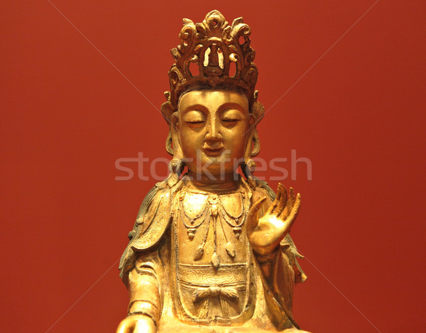 Heykel ibadet Asya Çin Asya antika Stok fotoğraf © leungchopan