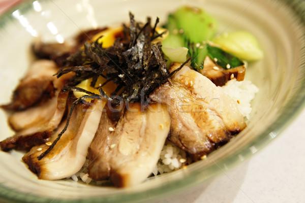 pork and rice in japan style Stock photo © leungchopan