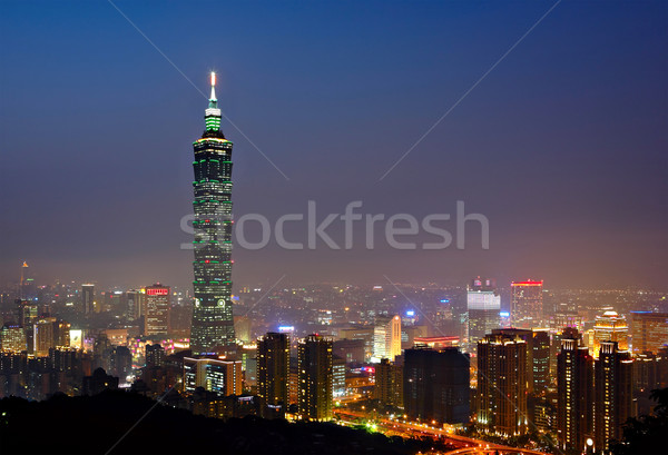 Taipei at night Stock photo © leungchopan