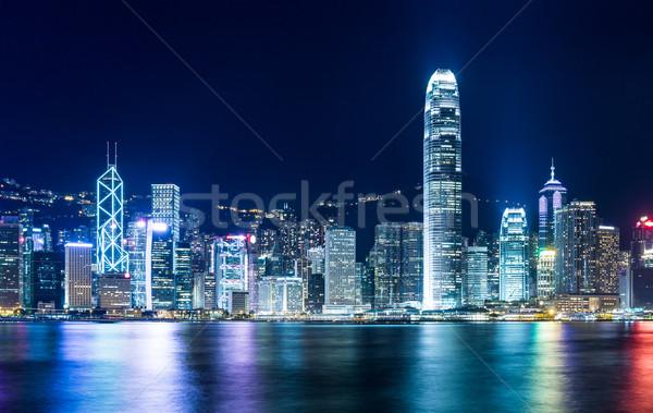 Mojón Hong Kong negocios edificio horizonte rascacielos Foto stock © leungchopan
