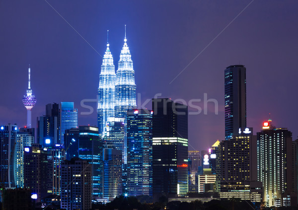 şehir Malezya Kuala Lumpur gece iş ofis Stok fotoğraf © leungchopan
