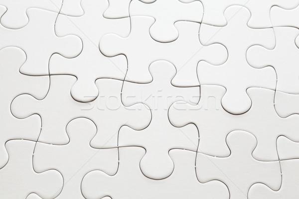 Compleet witte puzzel team succes samen Stockfoto © leungchopan