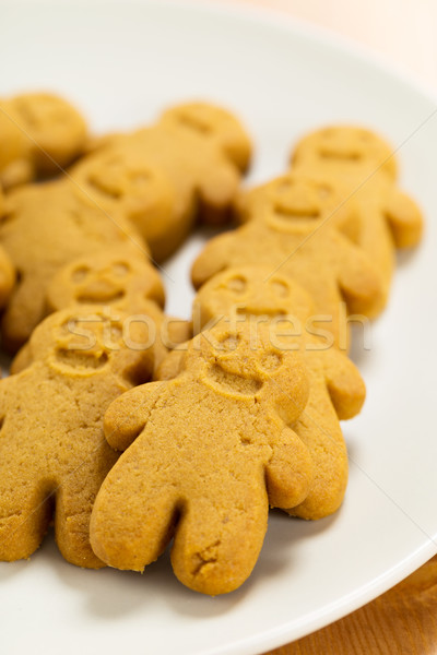 Stock photo: Group of Gingerbread men