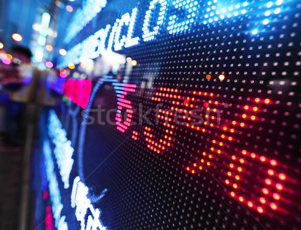 Сток-фото: Фондовый · рынок · цен · падение · отображения · деньги · экране