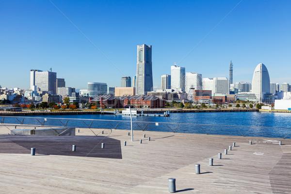 Yokohama linha do horizonte Japão negócio edifício mar Foto stock © leungchopan