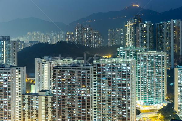 Stok fotoğraf: Hong · Kong · şehir · merkezinde · manzara · ev · alışveriş · kaya