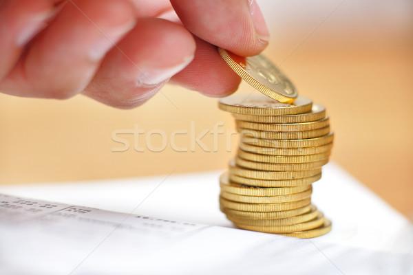 Megtakarítás piac vásárol gazdaság érme bankügylet Stock fotó © leungchopan