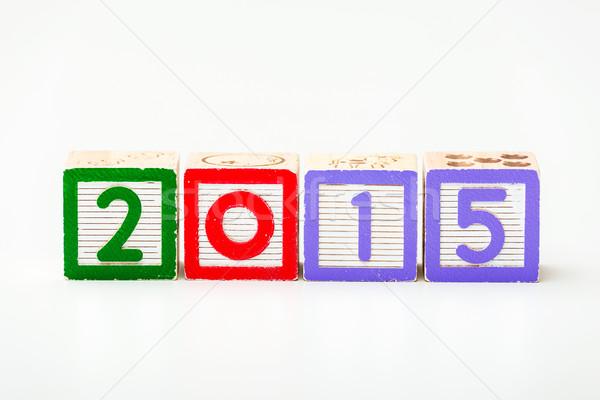 Ano 2015 fundo assinar carta Foto stock © leungchopan