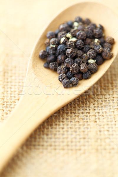 Pimenta preta textura comida fundo cozinha Foto stock © leungchopan