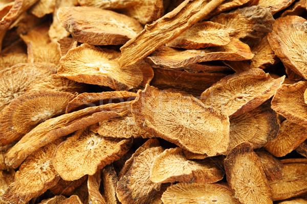 Herbal , dry burdock root Stock photo © leungchopan