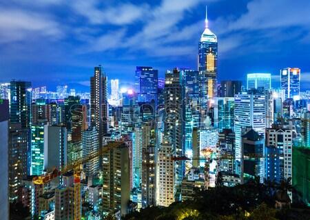 Cityscape Kuala Lumpur ofis şehir kentsel gece Stok fotoğraf © leungchopan