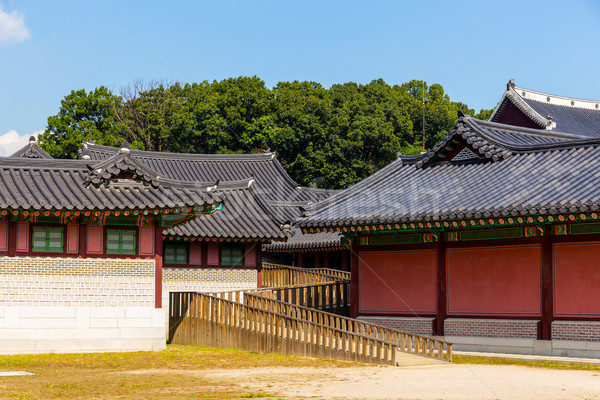 Traditional korean architecture Stock photo © leungchopan