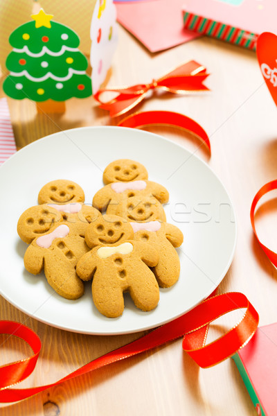 Gingerbread man cookie Stock photo © leungchopan