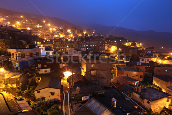jiu fen village at night, in Taiwan Stock photo © leungchopan