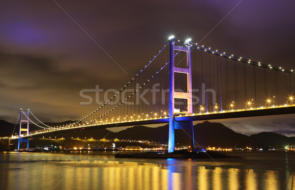 Tsing Ma Bridge in Hong Kong Stock photo © leungchopan