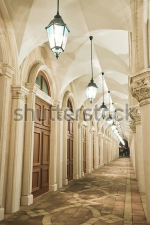 corridor of italian building style in macao Stock photo © leungchopan