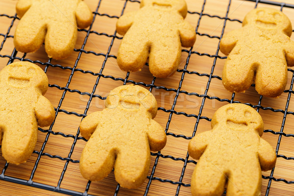 Stock photo: Baked gingerbread cookies