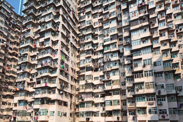 Hong Kong old residential building Stock photo © leungchopan