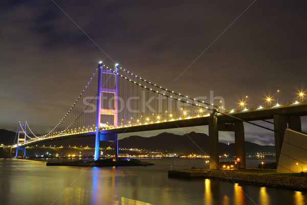 Tsing Ma Bridge at night Stock photo © leungchopan