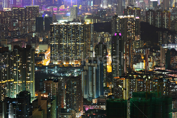 downtown at night Stock photo © leungchopan