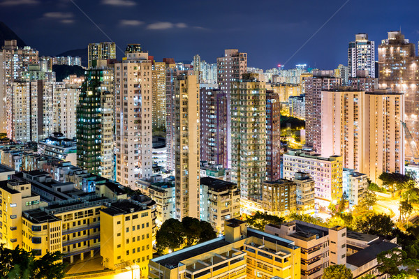 Гонконг здании город городского Skyline Cityscape Сток-фото © leungchopan