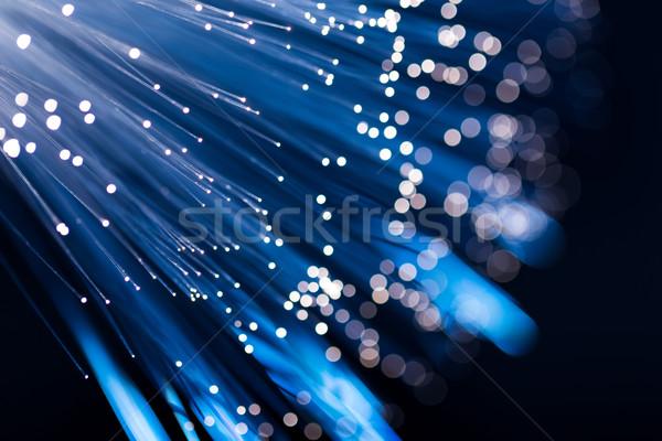 Blue fiber optic Stock photo © leungchopan
