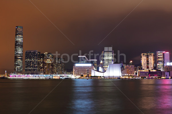 kowloon at night Stock photo © leungchopan