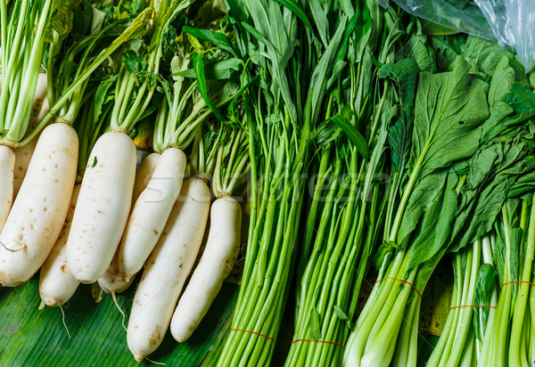 Vegetable for sell in food market Stock photo © leungchopan