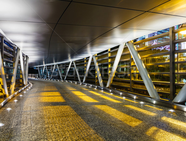 Empty modern pedestrian pathway at night Stock photo © leungchopan