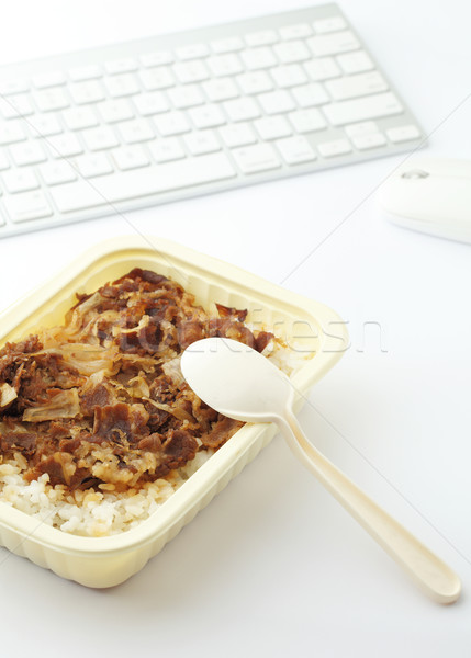 Unhealthy lunch at office Stock photo © leungchopan
