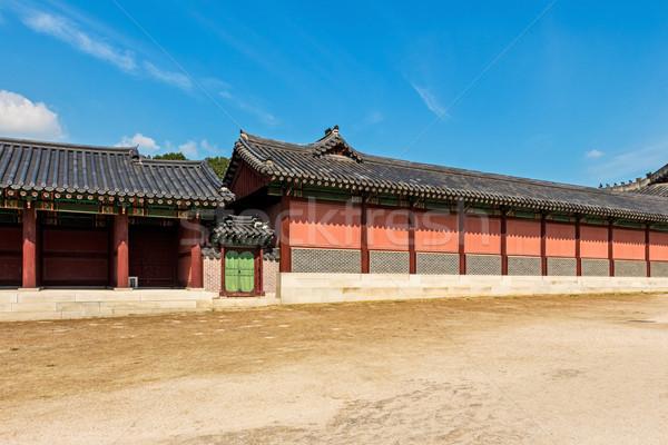 Ancient Korean building Stock photo © leungchopan